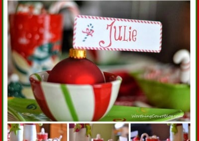 Free Cute Christmas Place Card Printable