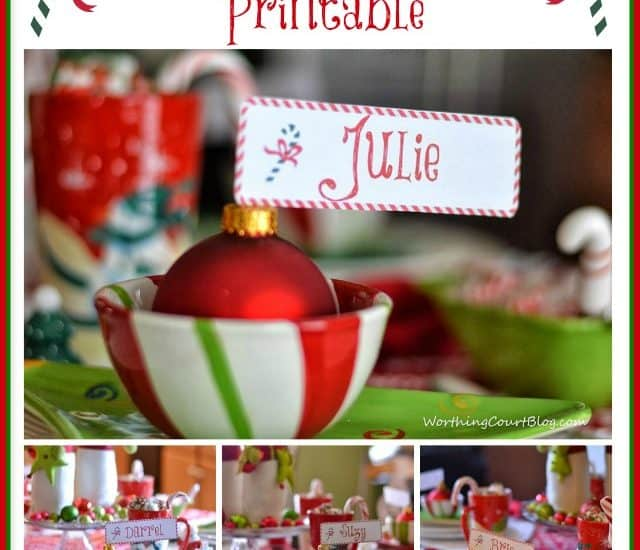 Worthing Court: Free Candycane Placecard Printable for Christmas