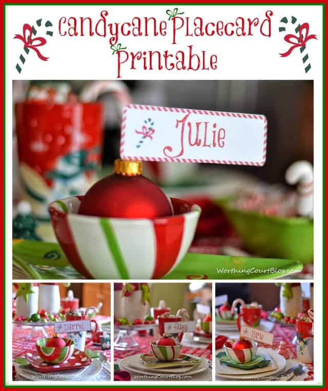 Free Cute Christmas Place Card Printable | Worthing Court