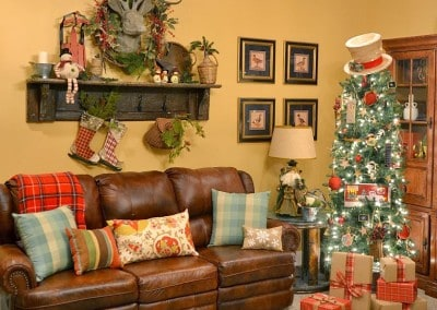 My Rustic Christmas Tree and Vintage Mantel