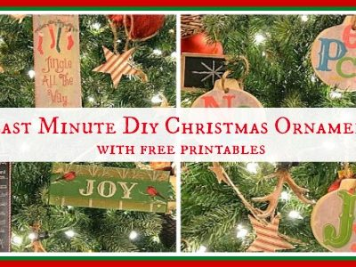 Worthing Court: 6 Last Minute DIY Christmas Ornaments