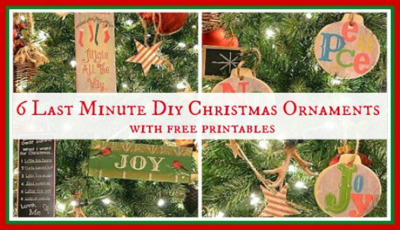 Worthing Court: 6 Easy DIY Christmas Ornaments