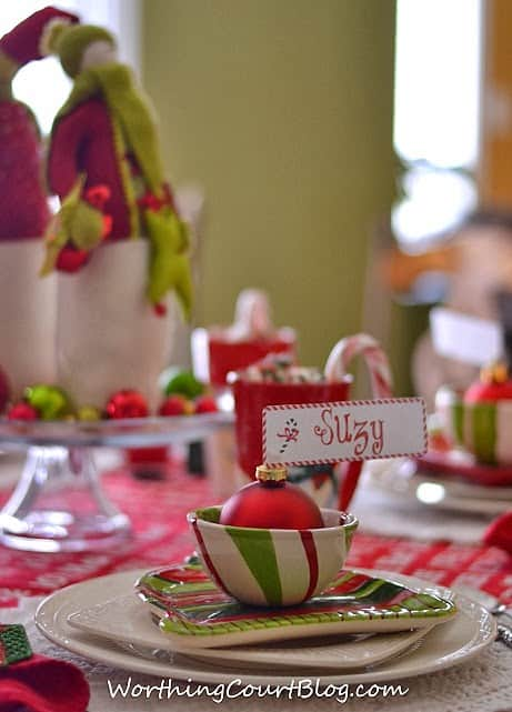 free cute christmas place card printable  worthing court