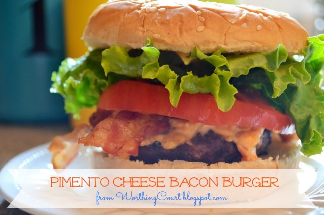 Recipe for Pimento Cheese Bacon Burgers