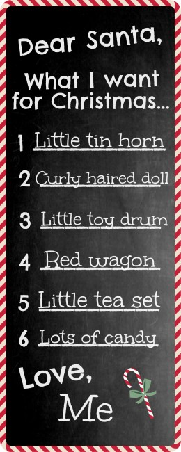 Worthing Court: Free Santa's Wish List Printable