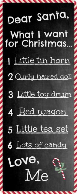 Worthing Court: Free Santa's Wish List Printable