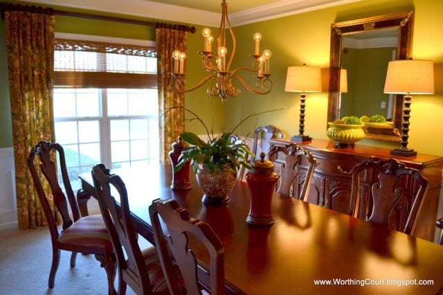 Worthing Court:  Ideas to update your dining room without buying new furniture or changing the wall color