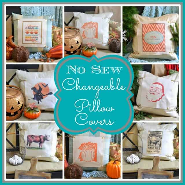 How to make easy no-sew changeable pillow covers.