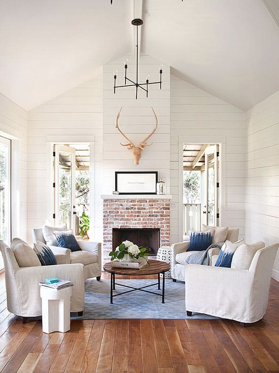 Think outside of the box. There's no rule that says you have to have a couch in a living room or family room. Move the couch to a different room and bring in chairs.