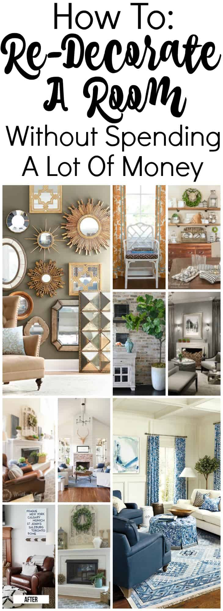 Loads of tips and ideas for how to redecorate a room on a budget