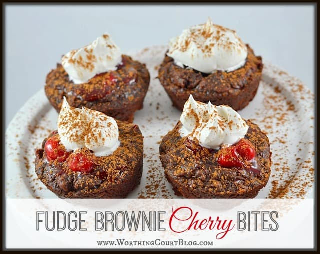 Recipe for Fudge Brownie Cherry Bites. Great for Valentine's Day or any day of the year.