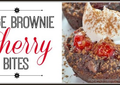 Fudge Brownie Cherry Bites Recipe