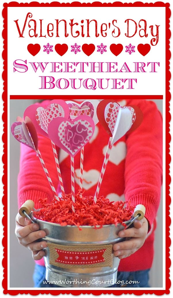 DIY Valentine's Day Sweetheart Bouquet Craft