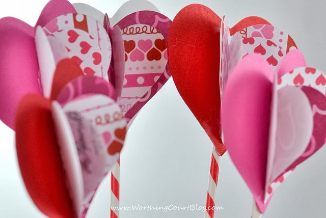 Worthing Court: 3D flowers for a diy Valentine's Day Sweetheart Bouquet craft