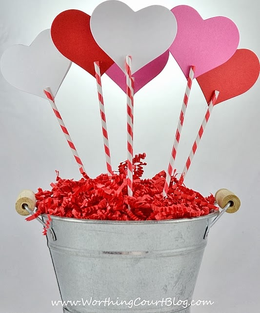 Worthing Court: Backside of diy Valentine's Day Sweetheart Bouquet craft