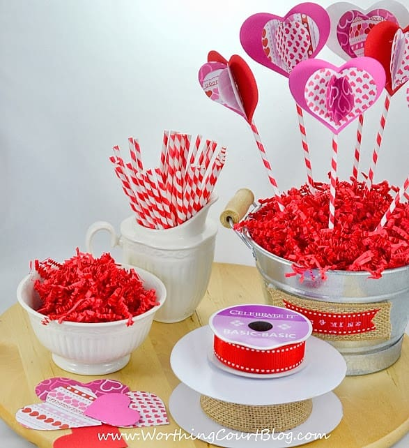 Worthing Court: supplies needed to make a Valentine's Day Sweetheart Bouquet craft