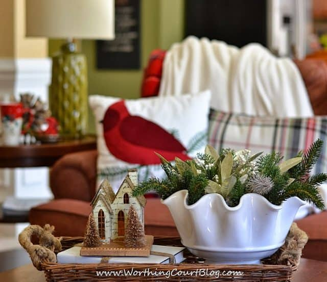 Worthing Court: A winter vignette and a cozy spot