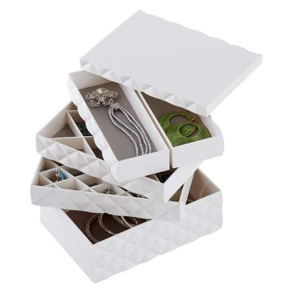 stylish jewelry organizing trays