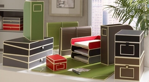Love these tailored boxes for storing office supplies