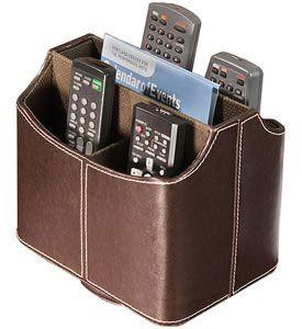 Stylish remote control caddy