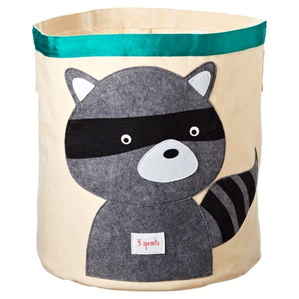 This cute canvas bin is great for organizing toys and is cute enough to keep in the family room