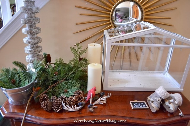 Worthing Court: supplies used for creating a terrarium vignette