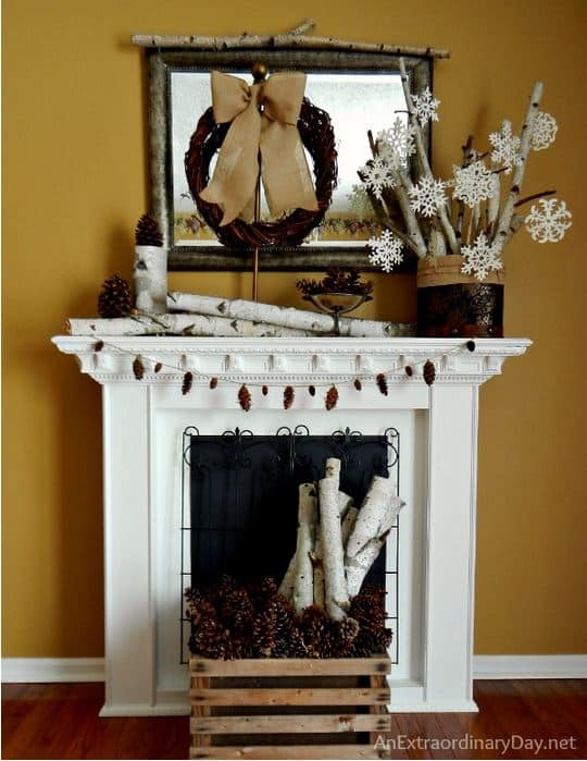 An Extraordinary Day:  Winter Mantel