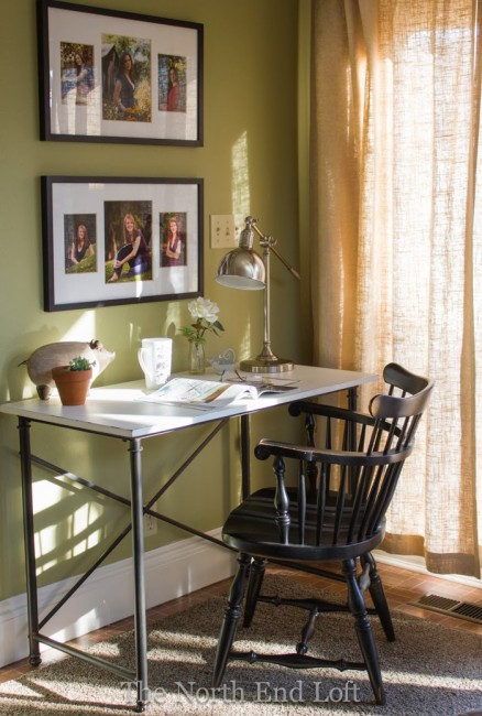 The North End Loft: Family Room Writing Desk