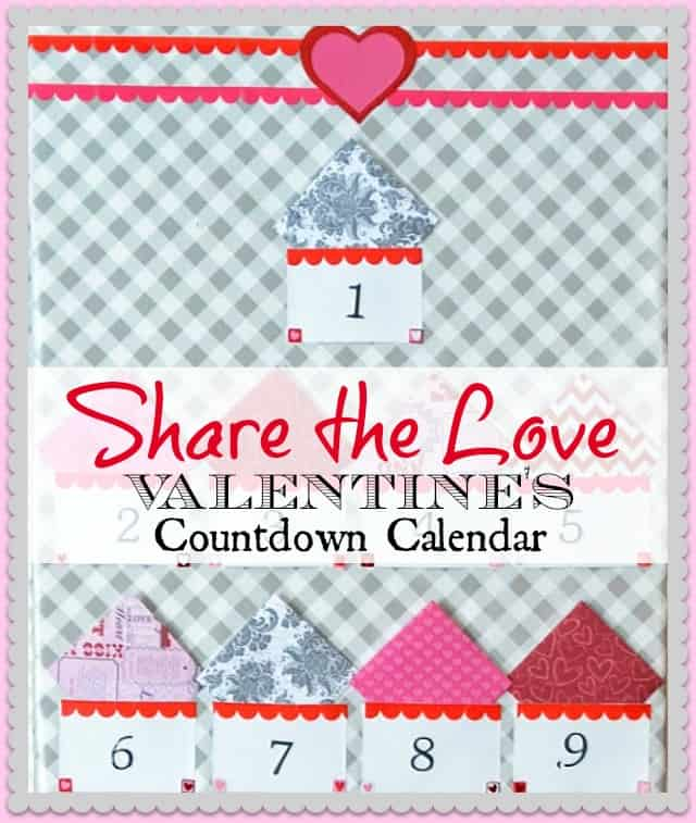 Make a countdown to Valentine's Day calendar