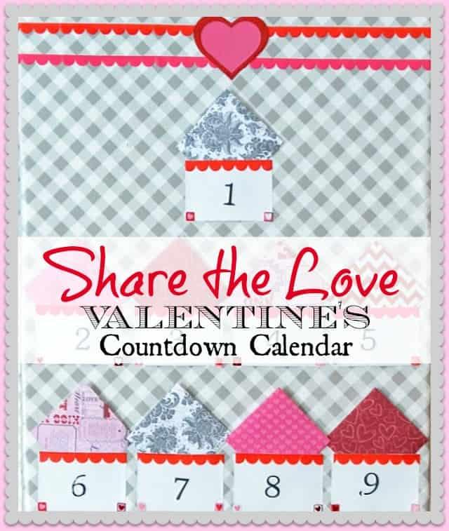 Make a countdown to Valentine's Day calendar