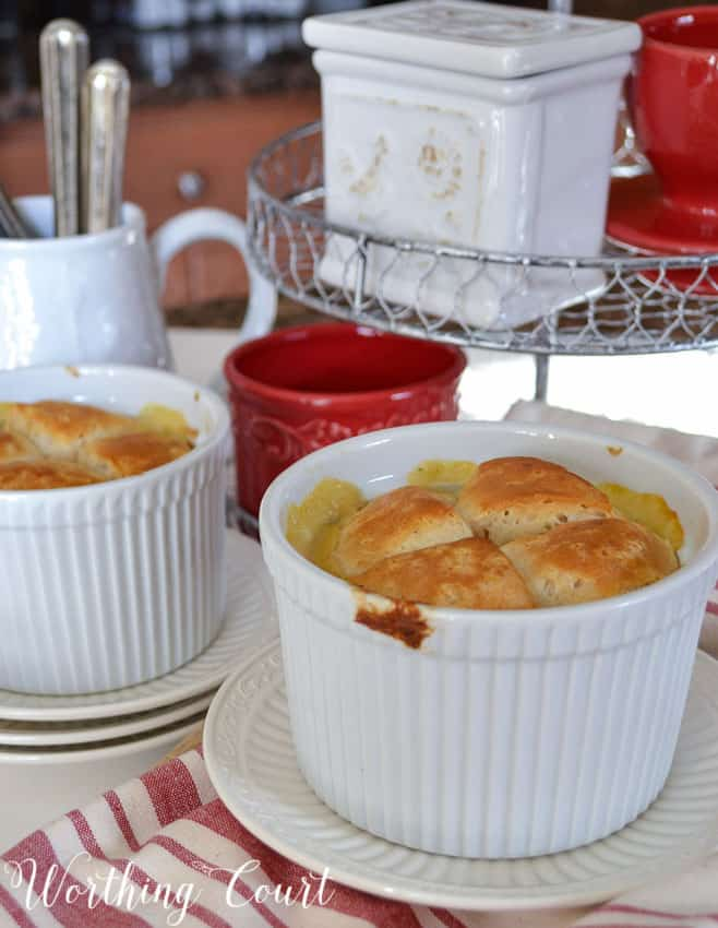 Here's a yummy chicken pot pie recipe that is ready in a flash!