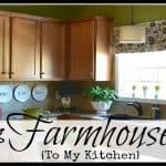 A DIY Faux Roman Shade And Chipping Away At My Farmhouse Kitchen Facelift