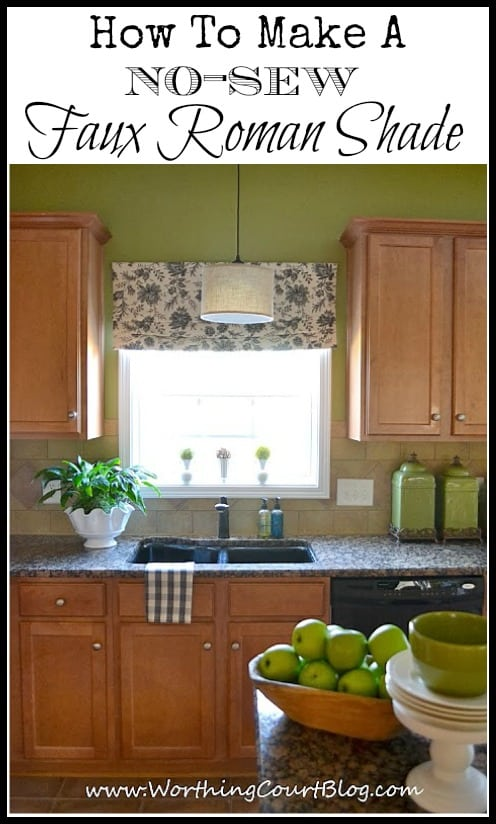 How To Make No Sew Faux Roman Shades :: WorthingCourtBlog.com