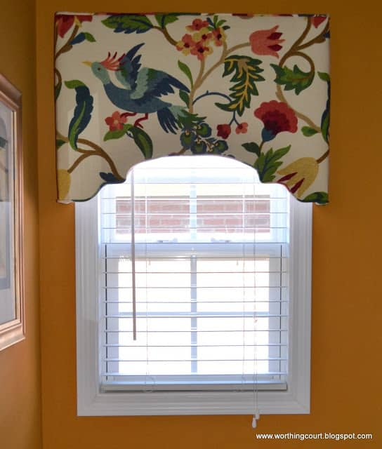 How to make an upholstered cornice - step by step directions.