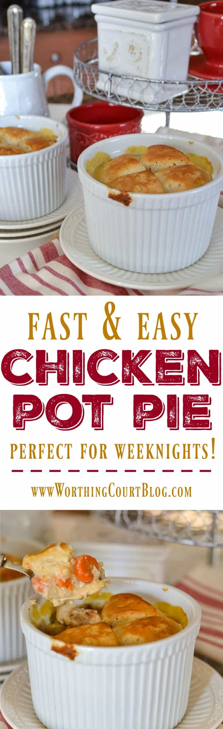 Have this quick and easy to prepare yummy chicken pot pie on your dinner table in a flash!
