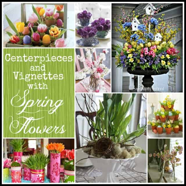 A roundup of vignettes and centerpieces using spring flowers.