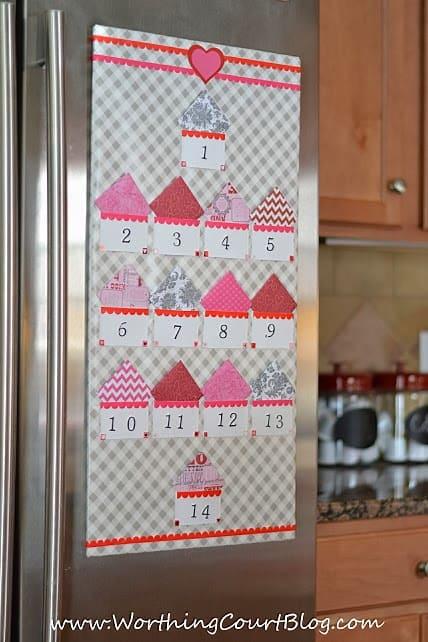 Countdown to Valentine's Day calendar