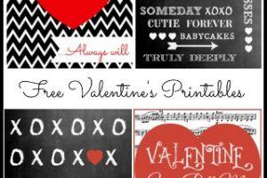 4 Free Valentine's Printables