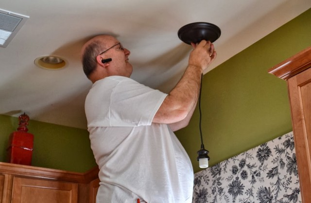 How to change an existing can light to a pendant light in 5 minutes.