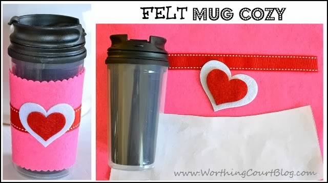 How to make a felt cup cozy for a mug with straight sides