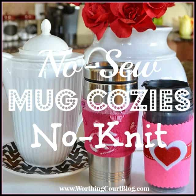 How to make no-sew, no-knit cup cozies