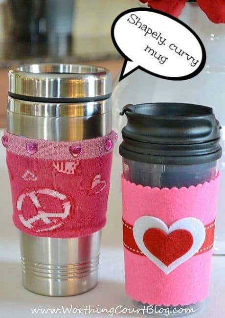 Make a cup cozy for a shapely, curvy mug