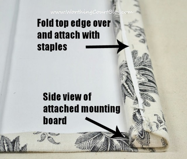 How To Make No Sew Faux Roman Shades Worthing Court