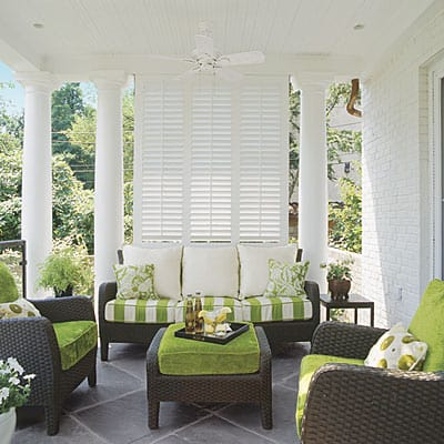 Sneak in some green - room decorating ideas:: WorthingCourtBlog.com