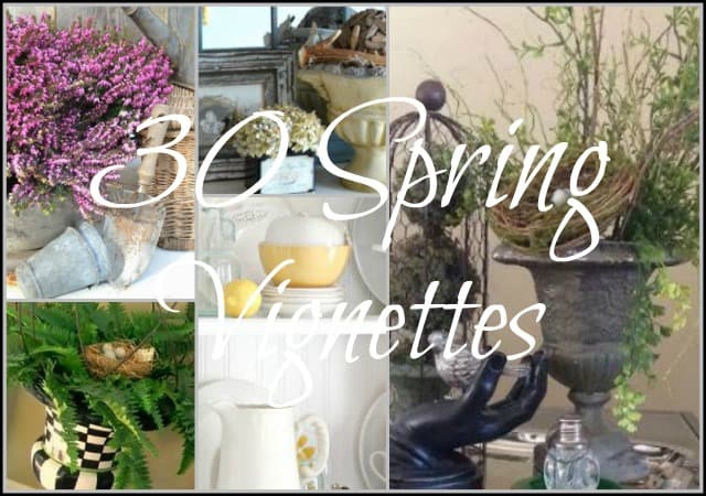 A roundup of 30 spring vignettes