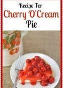 If you love cherries, you love this Cherry O'Cream Pie recipe! || Worthing Court