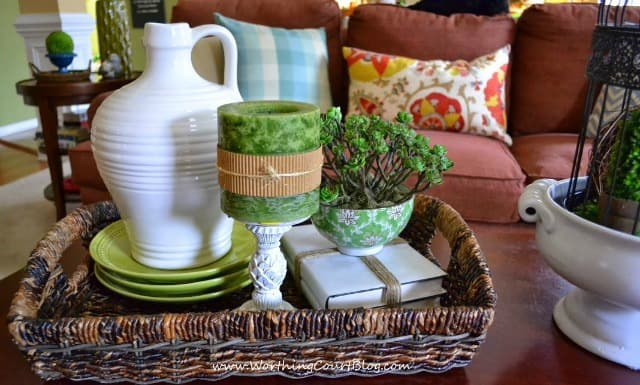 Spring Coffee Table Vignette - WorthingCourtBlog