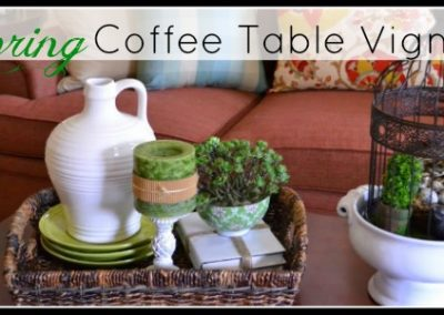 Spring Coffee Table Vignette