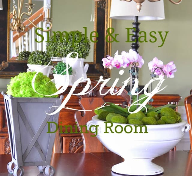 Simple and easy Spring dining room decor