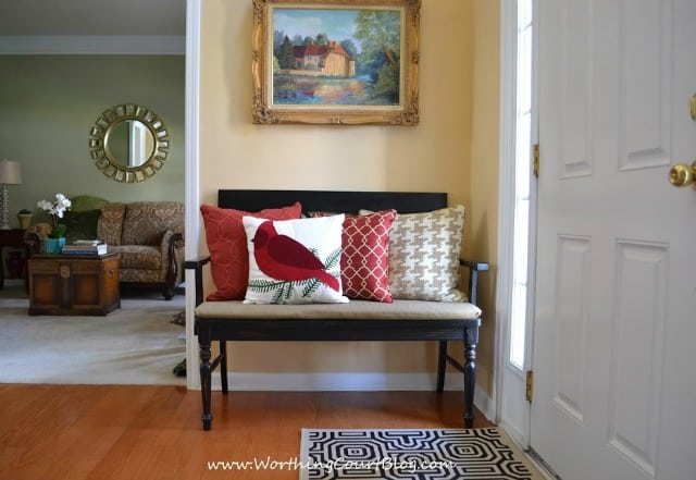 Christmas and winter bench pillows